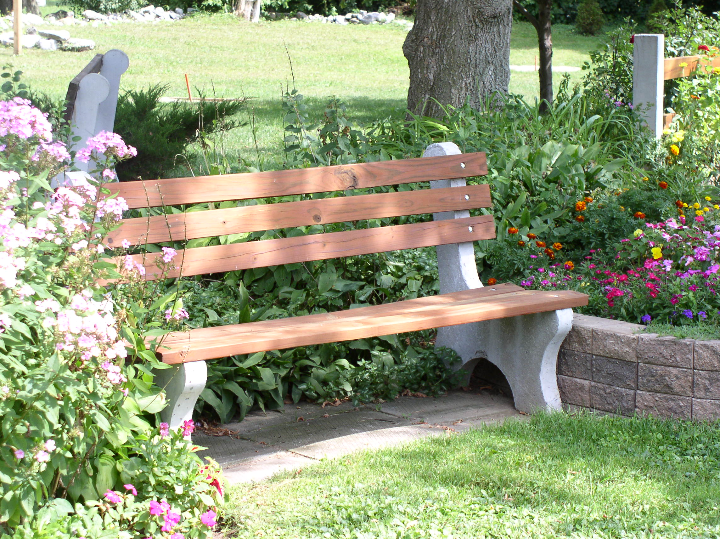 Park Bench Donated By Jefferson Concrete Corp Valued At 259