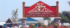 RT 37 building supply sign